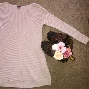 Light Pink Vince Camuto Ribbed Sweater